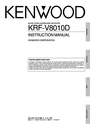 Kenwood KRF-V8010D Manual