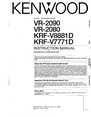 Kenwood KRF-V8881 D Manual