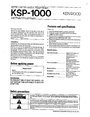 Kenwood 347 Manual