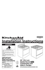 "KitchenAid 30"" (76.2 cm) Installation Instructions"