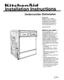 KitchenAid 9741159 Installation Instructions