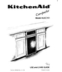 KitchenAid 987402 RV A11/92 Manual