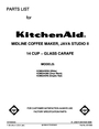 KitchenAid KCM534ER0 Manual