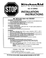 KitchenAid KD-18 Installation Instructions