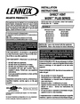 Lennox Hearth 2-EN53-VDLPM Installation Instructions