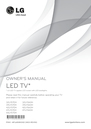 LG Electronics 39LY560H Owner Manual