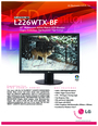 LG Electronics L226WTX-BF Manual