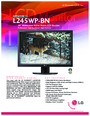 LG Electronics L245WP-BN Manual