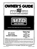 MTD 105 thru 108 Series, 130 thru 148 Series, 730 thru 738 Series Manual
