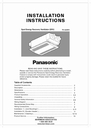 Panasonic FV-04VE1 Manual