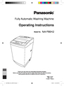 Panasonic NA-F90H2 Operating Instructions