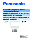 Panasonic PT 50DL54 Manuel Dutilisation