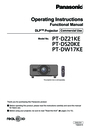 Panasonic PT-DS20KE Manual