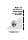 Panasonic WV-CW480S Operating Instructions