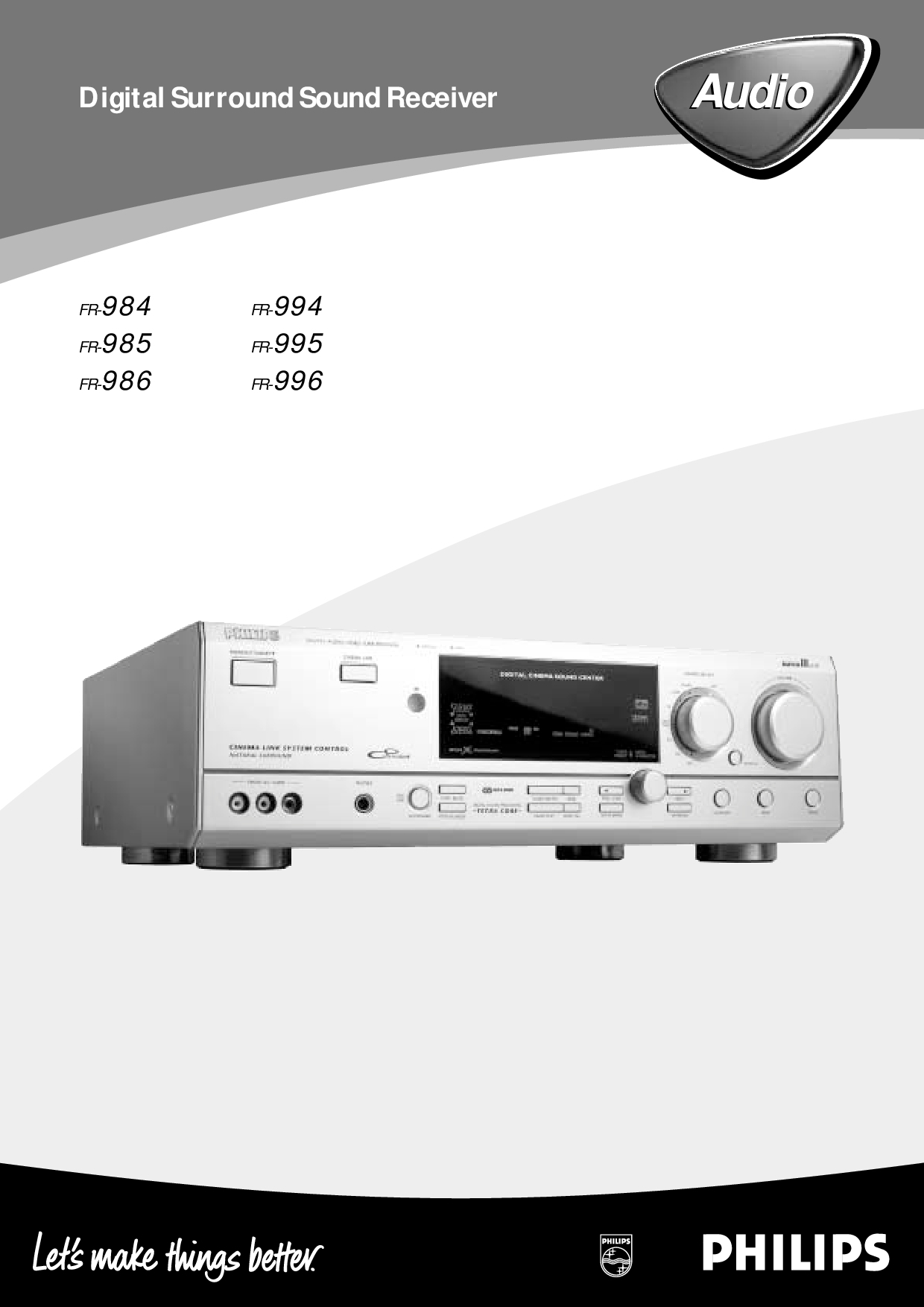 Philips FR-994 Manual