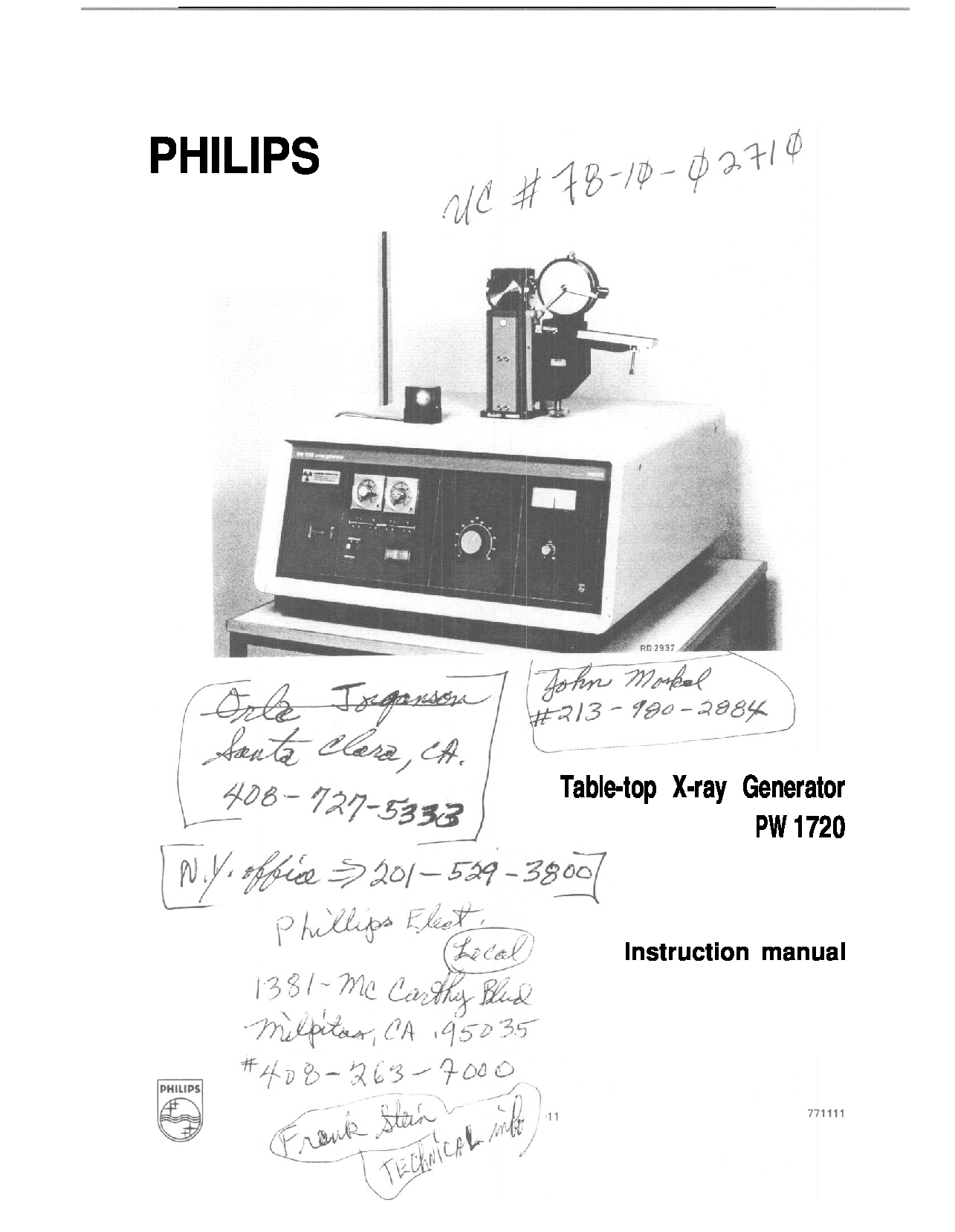 Philips PW 1720 Manual