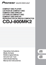 Pioneer CDJ-800MK2 Operating Instructions