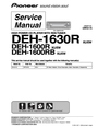 Pioneer DEH-1600RB Service Manual
