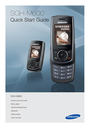 Samsung SGH-M600 Quick Start