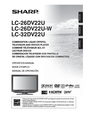 Sharp LC-32DV22U Manual