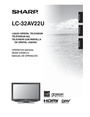 Sharp LC-32AV22U Manual