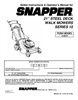 Snapper 215015 Important Safety Instructions