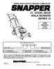 Snapper 216015, 216515BV Important Safety Instructions