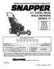 Snapper 216517B, P216517B, P217017BV, P217017BVE, P215517HC Important Safety Instructions