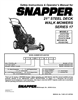 Snapper 2167517BV Important Safety Instructions