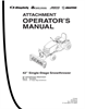 "Snapper 42"" Single-Stage Snowthrower Manual"