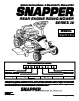 Snapper 421620BVE Important Safety Instructions