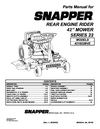 Snapper 421622BVE Manual