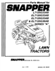 Snapper BH120G38AB Manual