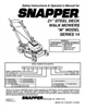 Snapper MCR5215014KWV Important Safety Instructions