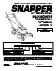 Snapper MCRP215015KWV Important Safety Instructions