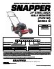 Snapper MP216518B, MRP216518B Important Safety Instructions