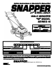 Snapper MR216015T Important Safety Instructions
