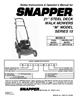 Snapper MRP216015B Important Safety Instructions