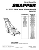 Snapper MP21507BE Manual