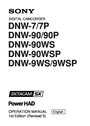 Sony DNW-90WS Manual
