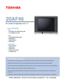 Toshiba 20AF46 Specifications