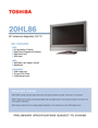 Toshiba 20HL86 Specifications