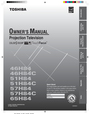 Toshiba 57H84C Owner Manual