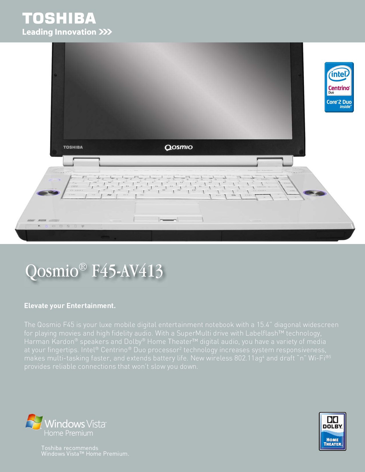 Toshiba F45-AV413 Manual