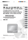 Toshiba MW26H82 Owner Manual