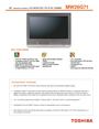 Toshiba MW 26G71 Manual