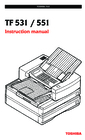 Toshiba TF 531 / 551 Instruction Manual