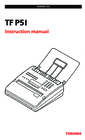 Toshiba TF P51 Instruction Manual