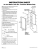 Whirlpool GI15NFLTS Instruction Sheet