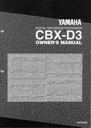Yamaha CBX-D3 Manual